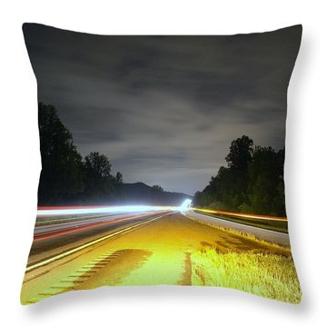 Throw Pillow featuring the photograph Lightworks by Alex Grichenko