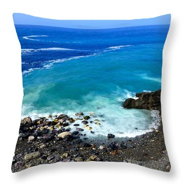Ligurian Coastline Throw Pillow by Amelia Racca