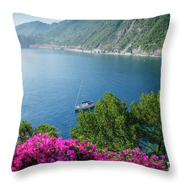 Ligurian Sea, Italy Throw Pillow