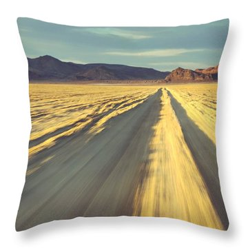 Like A Band Of Gypsies We Go Down The Desert Throw Pillow