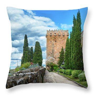 Like A Fortress In The Sky Throw Pillow