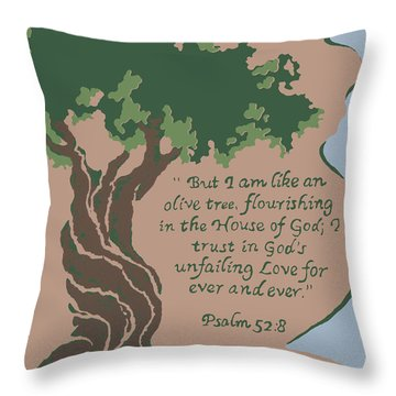 Like An Olive Tree Throw Pillow
