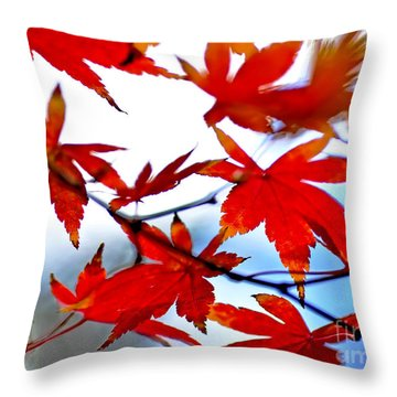 Like Autumn Butterflies In The Breeze Throw Pillow by Kaye Menner
