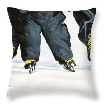 Like Father Like Son Throw Pillow by Betty-Anne McDonald