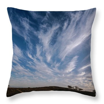 Like Feathers In The Sky Throw Pillow