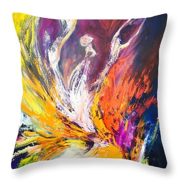 Like Fire In The Wind Throw Pillow