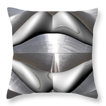 ' Like Kissing Stainless ' Throw Pillow