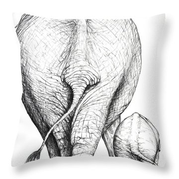 Like Mother Like Son Throw Pillow by Heidi Kriel
