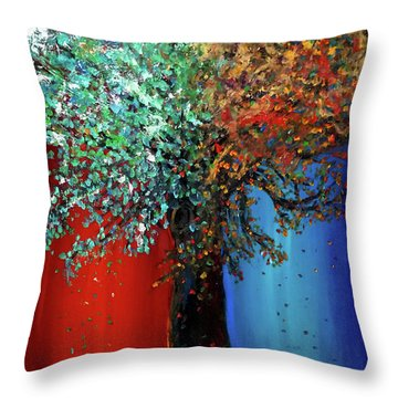 Like The Changes Of The Seasons Throw Pillow