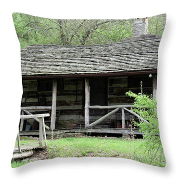 Lil Cabin Home On The Hill  Throw Pillow
