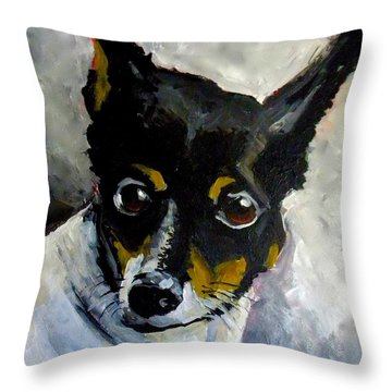 Lil Rat Terrier Throw Pillow