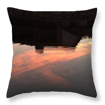 Li'l Ripples In A Florida Lake Throw Pillow