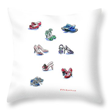 L'il Shoes Throw Pillow