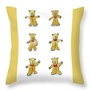 L'il Teddies Throw Pillow
