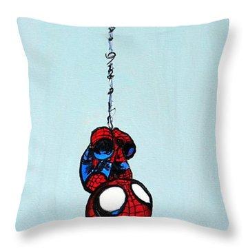 L'il Webcrawler Throw Pillow