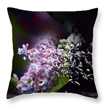Lilac 2 Throw Pillow