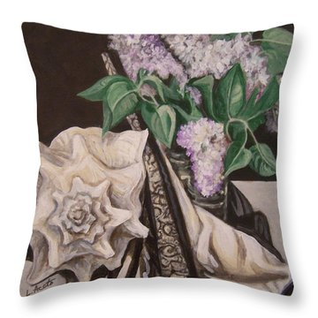 Lilac And Lingerie Throw Pillow