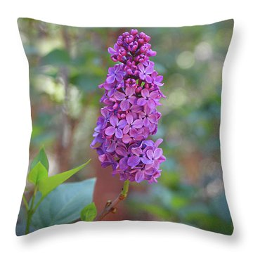 Lilac Bloom- Photography By Linda Woods Throw Pillow