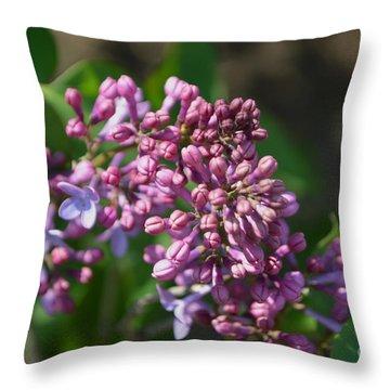 Lilac Blossom 1 Throw Pillow by Renie Rutten