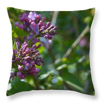 Lilac Blossom 2 Throw Pillow by Renie Rutten