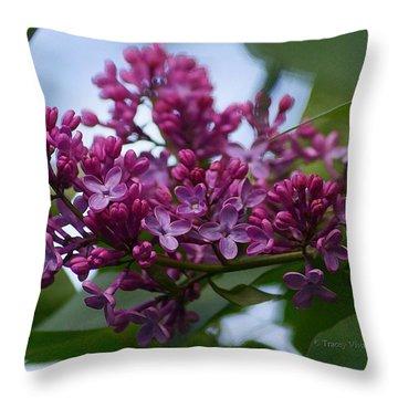 Lilac Buds Throw Pillow