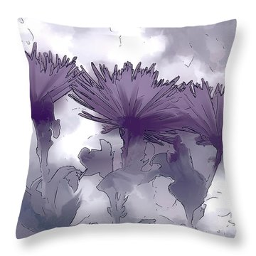 Lilac Fancy Throw Pillow