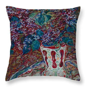 Lilac Fantasy Throw Pillow