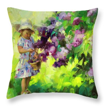 Lilac Festival Throw Pillow