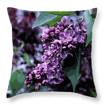 Lilac Heaven Throw Pillow