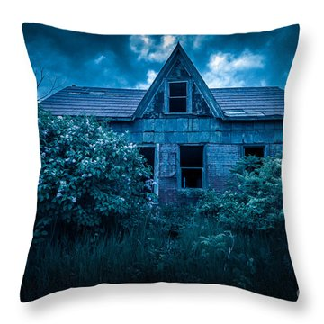 Lilac House Throw Pillow