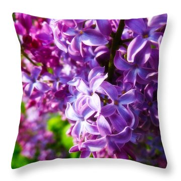 Lilac In The Sun Throw Pillow