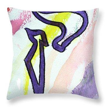 Lilac Kuf Throw Pillow