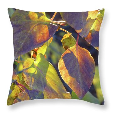 Lilac Leaves Throw Pillow
