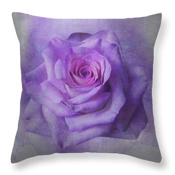 Lilac Purple Rose Throw Pillow