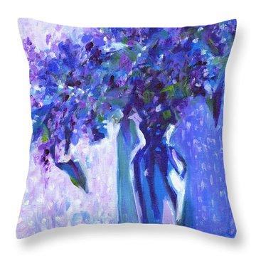 Lilac Rain  Throw Pillow