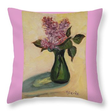 Lilac Reflections Throw Pillow