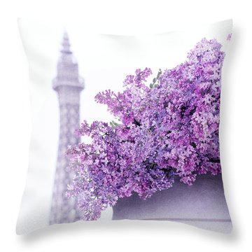 Lilac Tales Throw Pillow