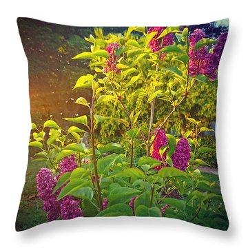 Lilac Tree Throw Pillow