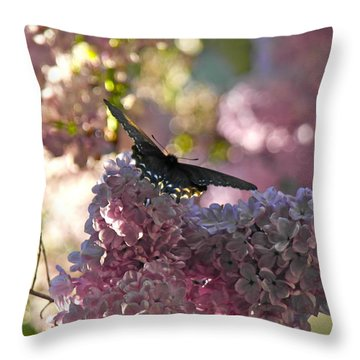 Lilac World Throw Pillow
