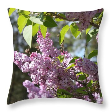 Throw Pillow featuring the photograph Lilacs 5545 by Antonio Romero