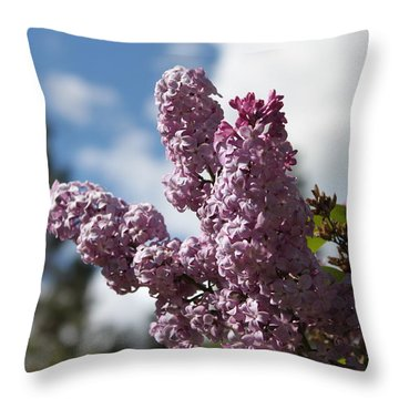 Lilacs 5547 Throw Pillow