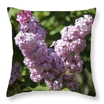 Throw Pillow featuring the digital art Lilacs by Antonio Romero