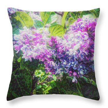 Throw Pillow featuring the photograph Lilacs Expression by Anna Louise