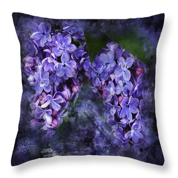 Lilacs Frenchy Scruff Throw Pillow