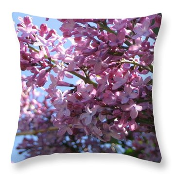 Lilacs In Bloom 2 Throw Pillow