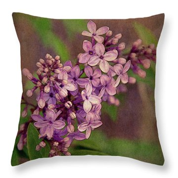 Lilacs Throw Pillow by Krista-