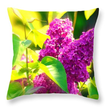 Throw Pillow featuring the photograph Lilacs by Susanne Van Hulst