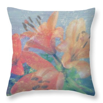 Lilies #1 Throw Pillow