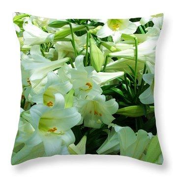 Lilies 11 Throw Pillow by Anna Villarreal Garbis