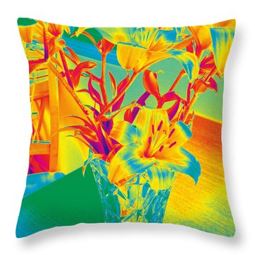 Lilies #3 Throw Pillow